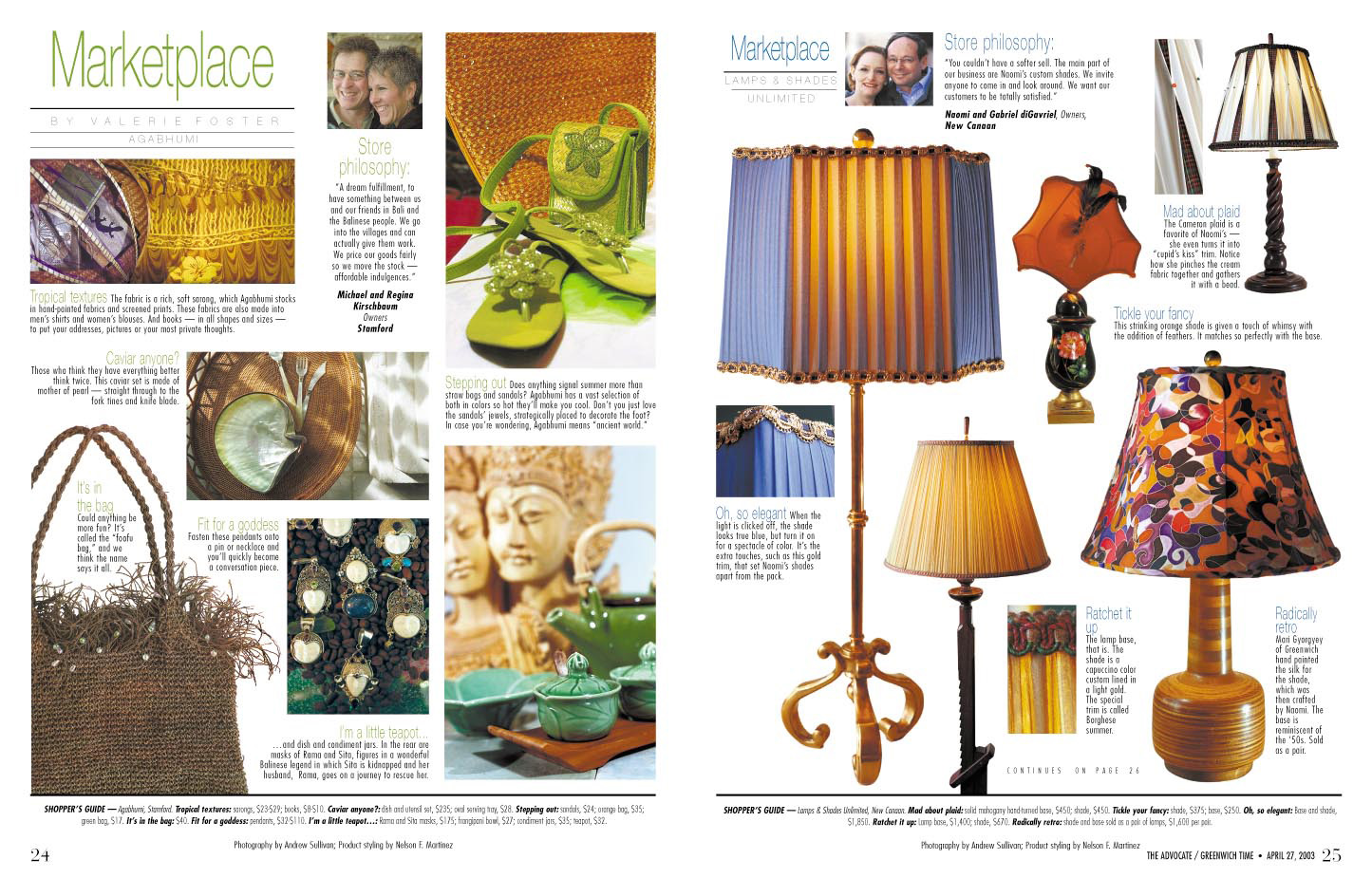 Home magazine product styling for Arts and crafts home magazine